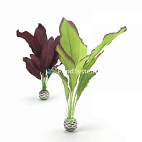 "Набор декор. растений ""Silk plant set medium green&purple"""