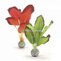 "Набор декор. растений ""Silk plant set small green&red"""