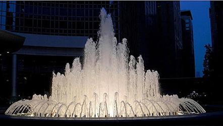 фонтан с насадками